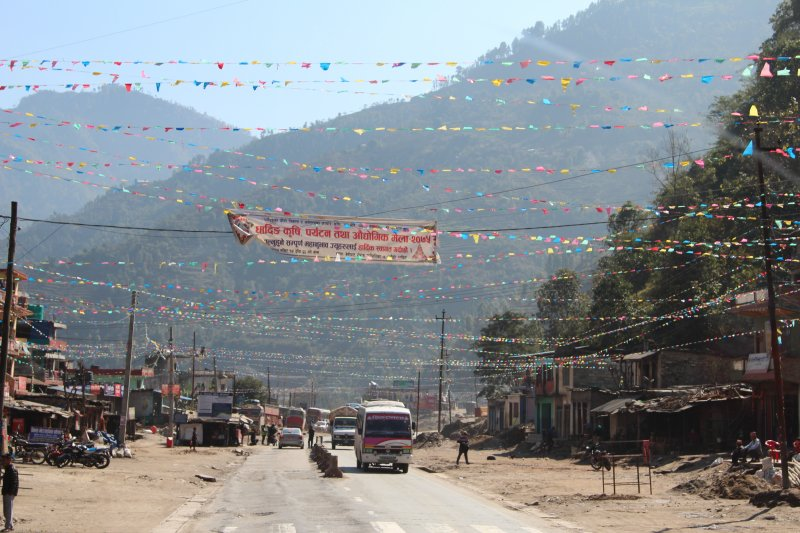 Highway village Pokhara to Kathmandu