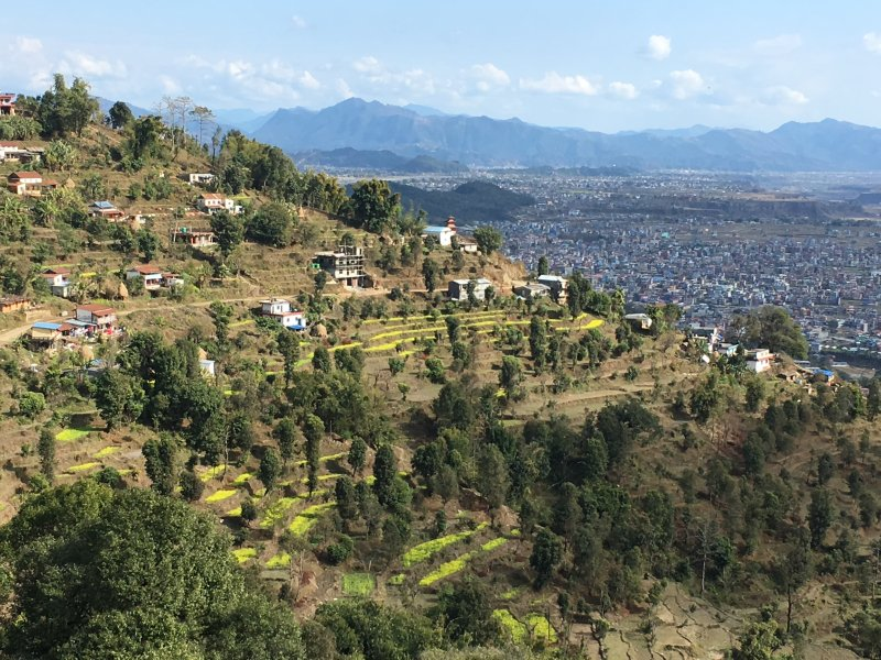 Hiking to Pokhara from World Peace Pagoda