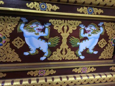 Jangchub Choeling Tibetan Monastery interior decoration