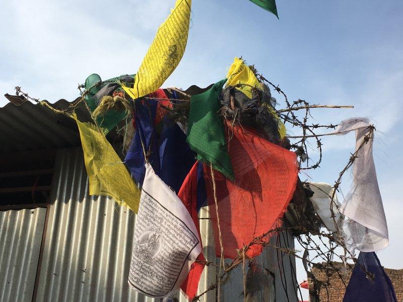 Kathmandu Monkey Temple, more prayer flags