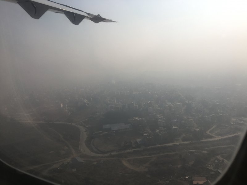 Leaving behind the dusty Kathmandu