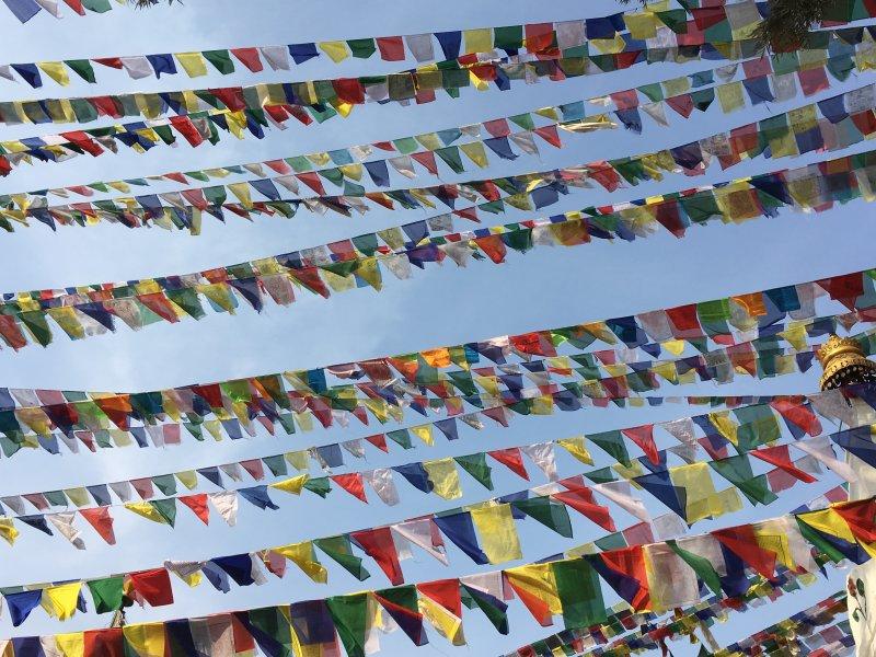 Monkey Temple prayer flags