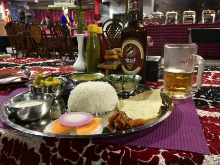 Nepales Dhal Bhat and Gorkha beer