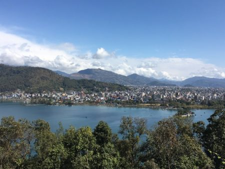 Pokhara from World Peace Pagoda
