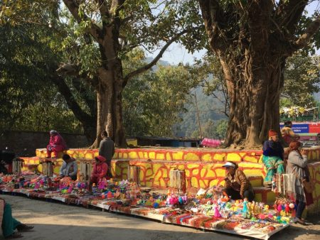 Pokhara lakeside marketplace