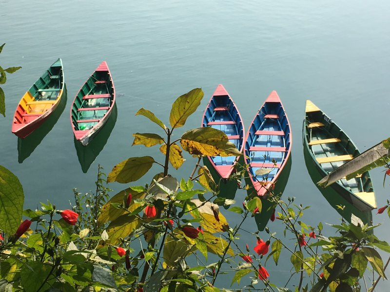 Pokhara lakeside rental boats