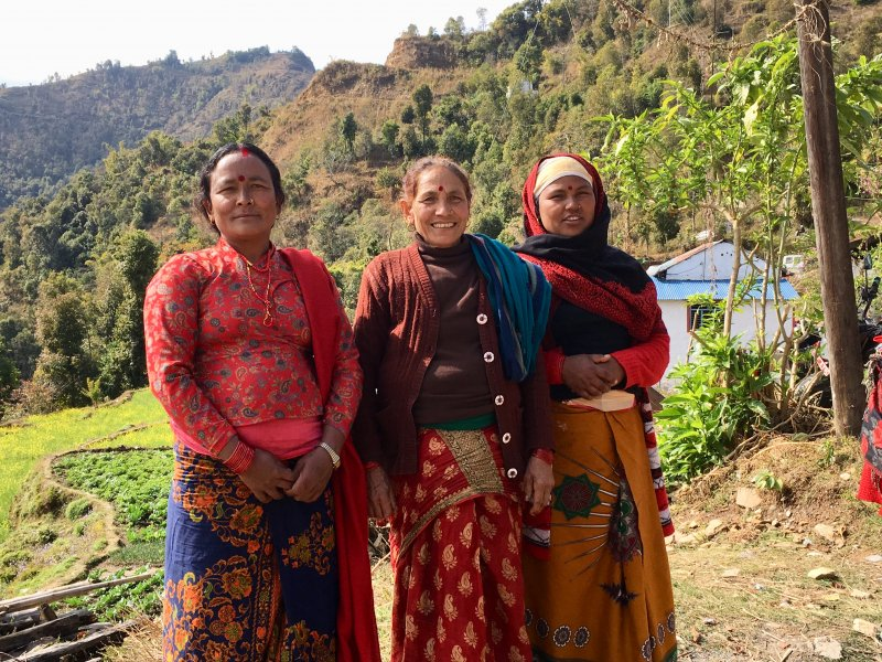 Local women of Pokhara, Nepal