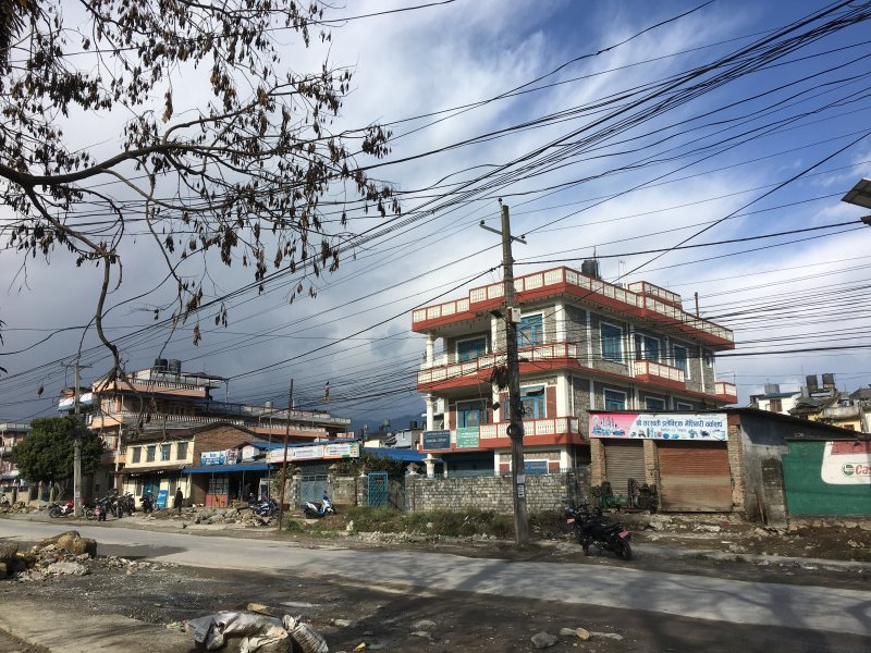 Pokhara main road