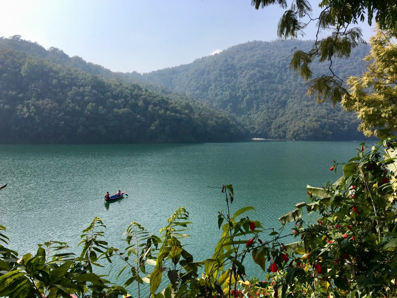 Rowing on Lake Phewa, Pokhara
