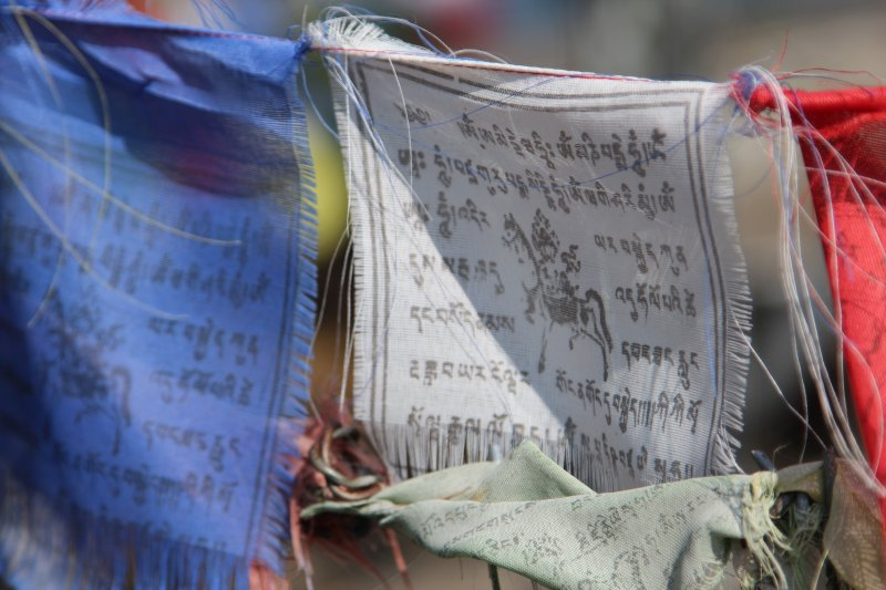 Sarangkot Buddhist prayer flags