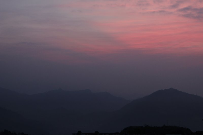Sarangkot pink sky before sunrise