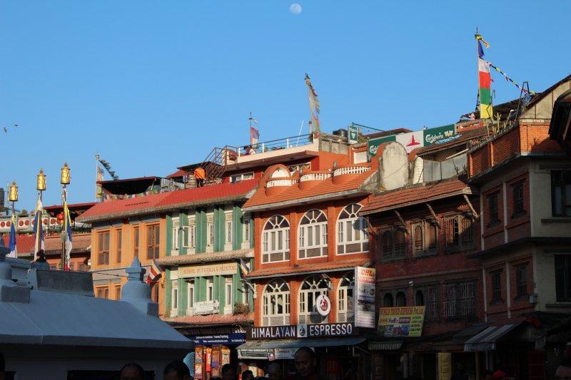 Sights around Kathmandu: Boudanath stupa square