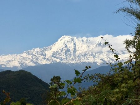 The Annapurnas seen from Sarangkot