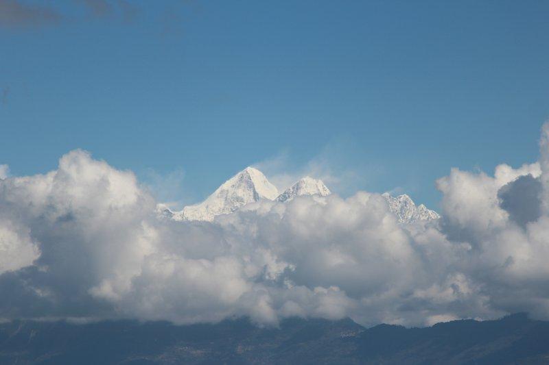 The Himalayas from Prakriti Resort
