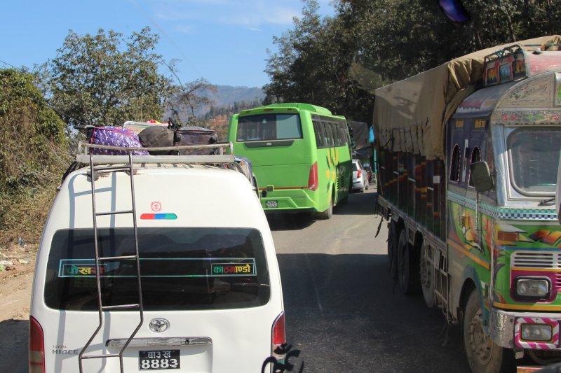 Traffic from Kathmandu to Pokhara