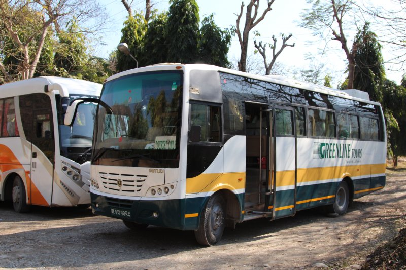 Traveling by land in Nepal: Greenline Bus