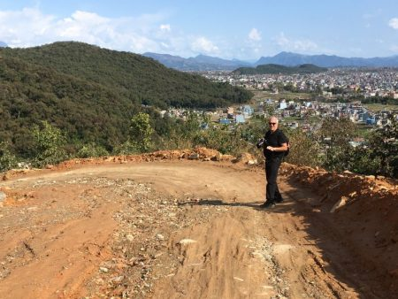 Walk along road from World Peace Stupa to Pokhara