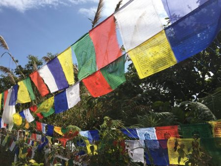 World Peace Stupa prayer flags
