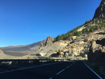 Approaching Mount Teide from the south