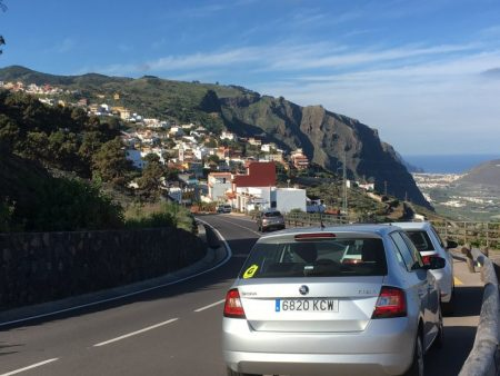 Driving on the North Shore of Tenerife