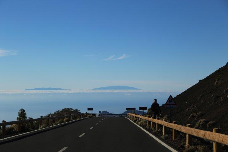 La Gomera seen from Mount Teide