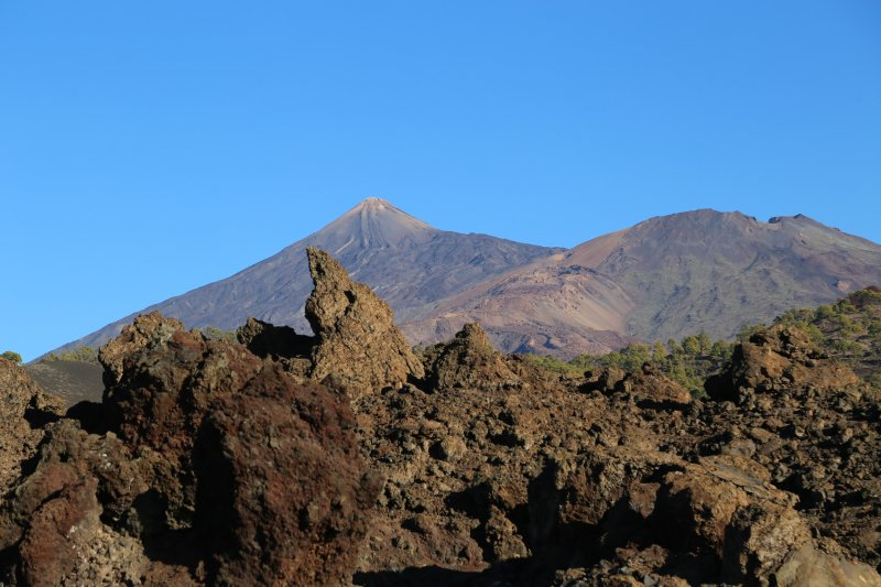 Mount Teide and smaller volcanoes