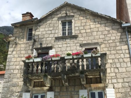 A house facade in Perast, Bay of Kotor