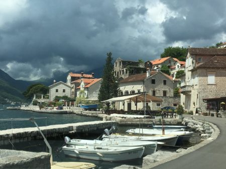Arriving in Perast, Bay of Kotor