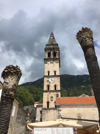 Church tower in Perast, Montenegro