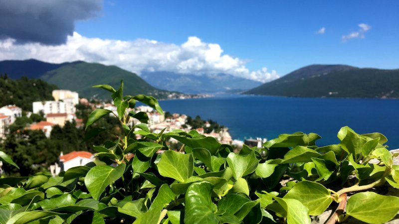 Herzeg Novi view to the Bay of Kotor