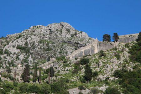 Kotor fortress walls