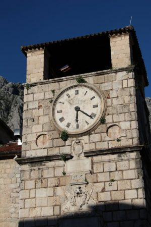 Kotor's old clock tower