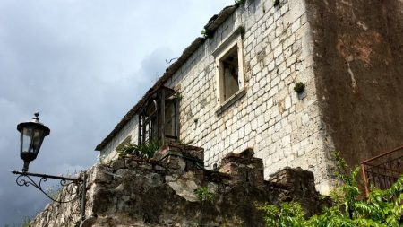 Old house in Perast, the Bay of Kotor
