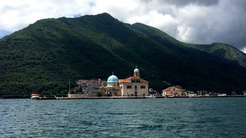 Our Lady of the Rock island on the Bay of Kotor