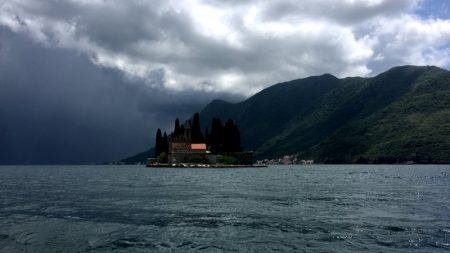 Saint George island on the Bay of Kotor