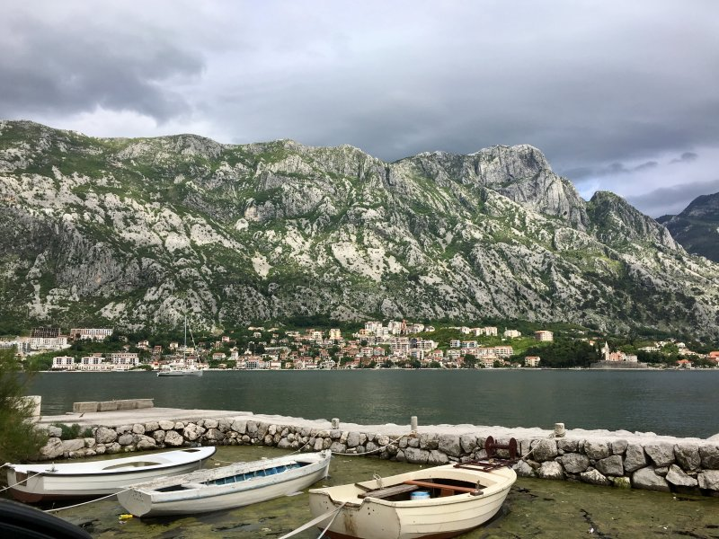 View across the Bay of Kotor