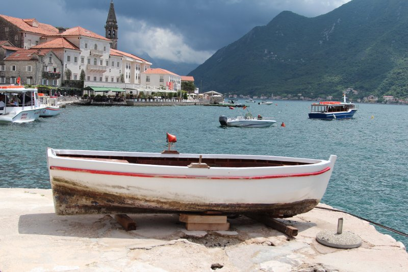 View of Perast, Montenegro