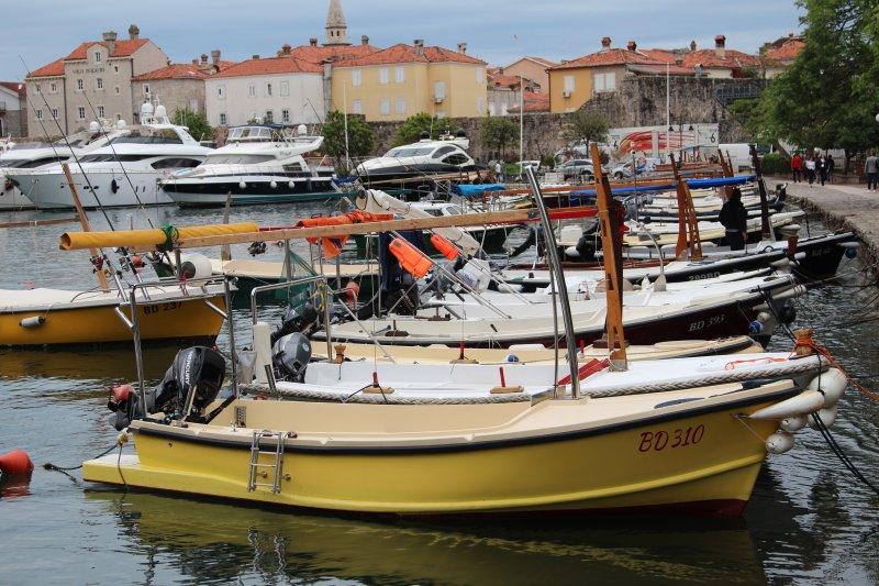 Harbor of Budva, Montenegro