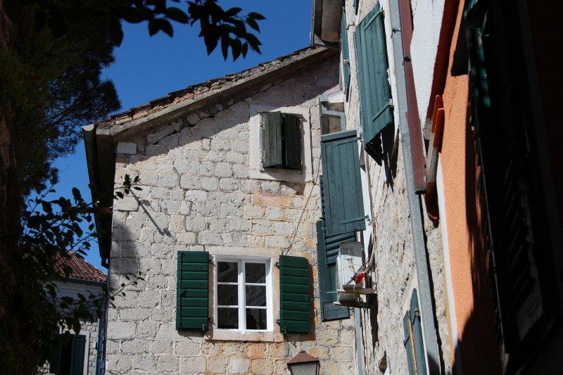 House corner in Kotor, Montenegro
