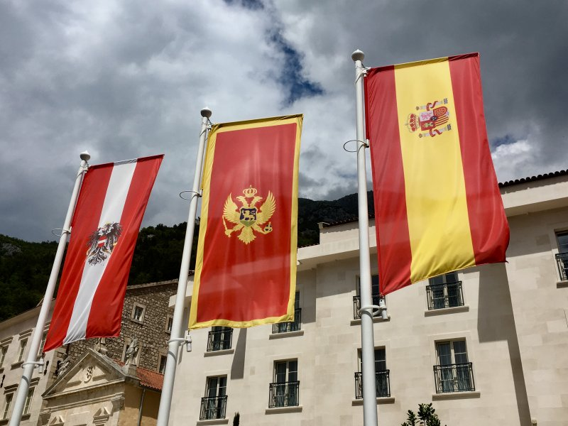 In the middle: Montenegro flag
