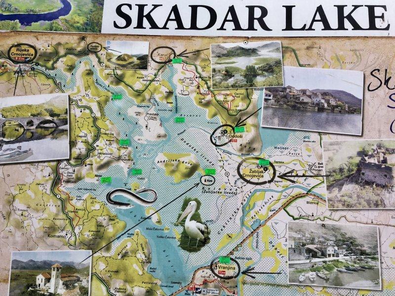 Skadar Lake map