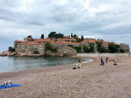 Sveti Stefan and its beach, Montenegro