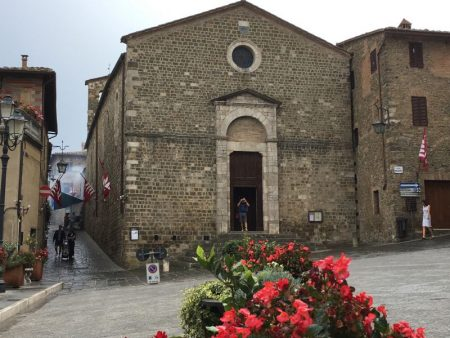 Italy by train and car: a typical Tuscan town