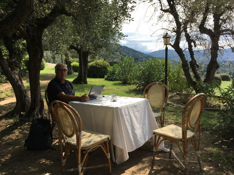 Office with views, Villa Le Rondini, Florence