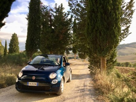 Touring Tuscan countryside by rental car