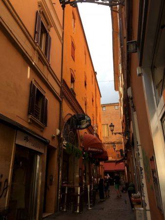 Bologna centro storico side alley