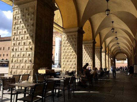 Bologna Piazza Maggiore arches