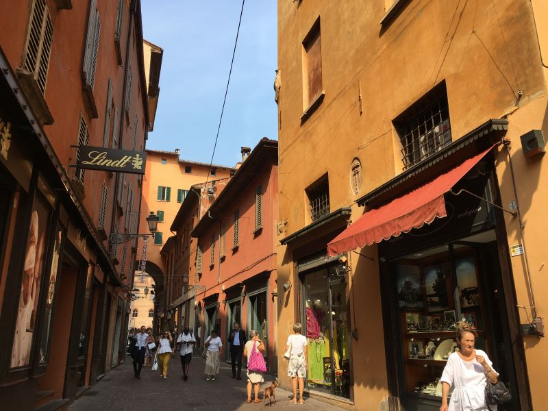 Narrow streets of Bologna